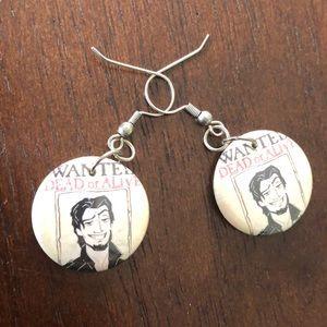 """Flynn rider """"tangled"""" earrings!"""